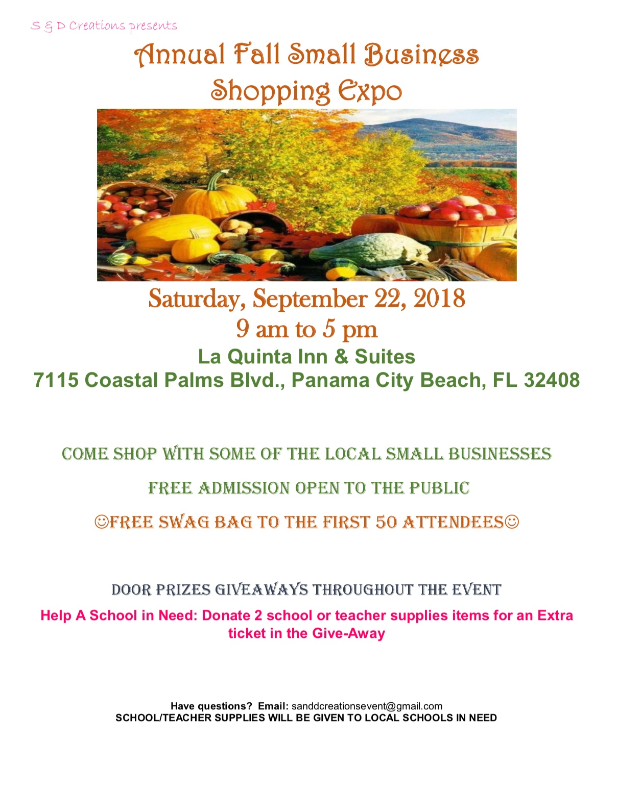 Annual Fall Small Business Shopping Expo - Bay County