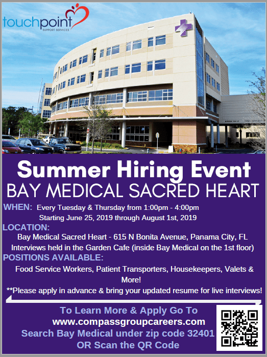 TouchPoint Support Services Summer Hiring Event at Bay