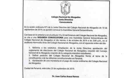 Convocatoria- Asamblea General Extraordinaria