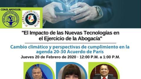 CONGRESO INTERNACIONAL: Cambio climático y perspectivas de cumplimiento en la agenda 20-30 Acuerdo de París