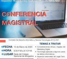 INVITACIÓN: CONFERENCIA MAGISTRAL