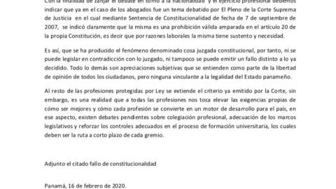 MENSAJE DEL PRESIDENTE DEL COLEGIO NACIONAL DE ABOGADOS