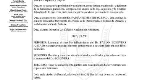 EL CNA LAMENTA EL SENSIBLE FALLECIMIENTO DEL DR. FABIÁN ECHEVERS