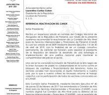 COLEGIO NACIONAL DE ABOGADOS SOLICITA LA REACTIVACIÓN DEL CANSIF