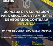 JORNADA DE VACUNACIÓN PARA ABOGADOS Y FAMILIARES CONTRA LA INFLUENZA