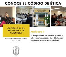 CONOCE EL CÓDIGO DE ÉTICA – ARTÍCULO 7