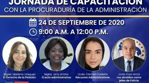 JORNADA DE CAPACITACIÓN CON LA PROCURADURIA DE LA ADMINISTRACIÓN