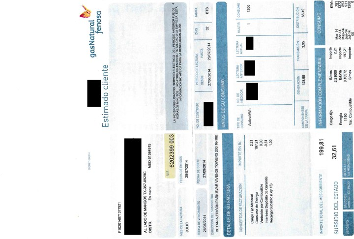 Electric Bill from the Month of July. Electric use fluctuates month to month, but averages about $175.
