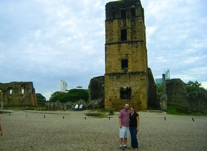 The old bell tower in Panama Viejo.