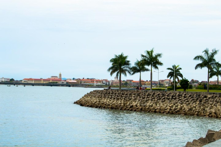 The Cinta Costera with Casco Viejo in the background
