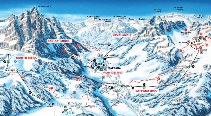 cartina nevelandia parco giochi sulla neve sappada