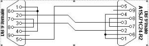 PC to Mitsubishi A1SJ71C24-R2 serial programming cable