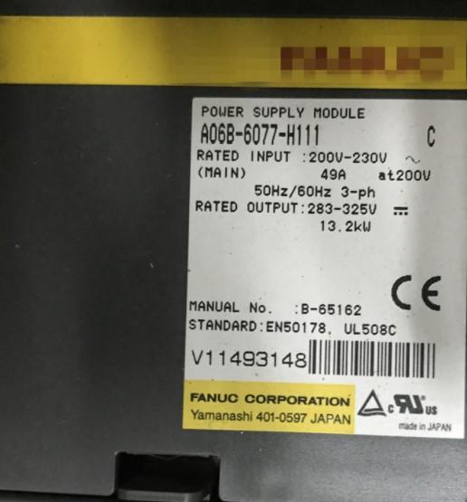 A06B-6077-h111 power supplu module