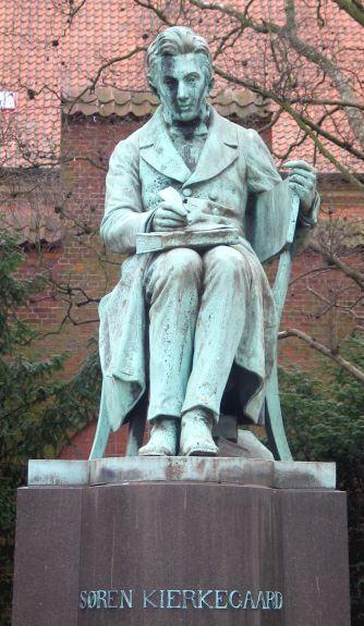 Kierkegaard's statue in Copenhagen
