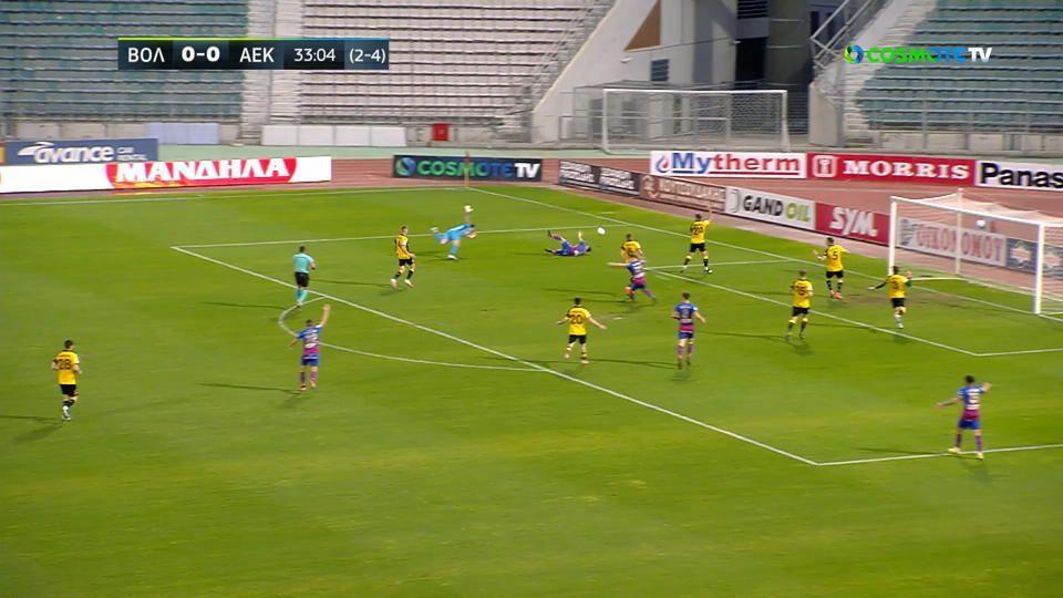 Βόλος – ΑΕΚ: Το 1-0 από τον Δουβίκα (vid) | panathinaikos24.gr