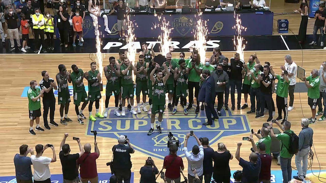 Η απονομή του Super Cup στον Παναθηναϊκό (vid)   panathinaikos24.gr