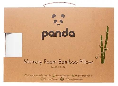 Panda Memory Foam Bamboo Pillow