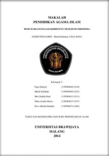 25+ Contoh Cover Makalah Kelompok yang Baik dan Benar |SMA ...