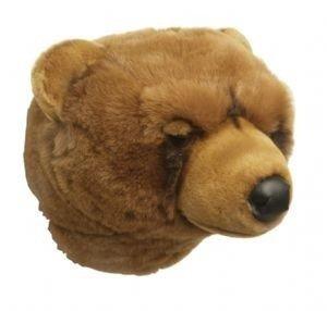 Plüsch Tierkopf-Trophäe Grizzlybär Oliver