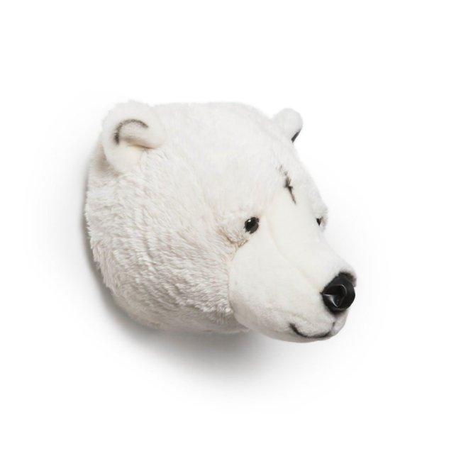 Plüsch Tierkopf-Trophäe Eisbär Basile