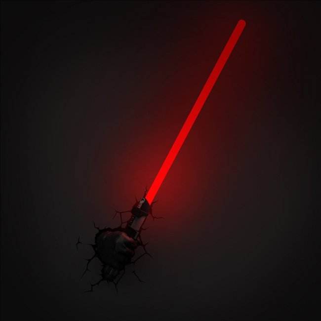 Darth Vader Lichtschwert Wandlampe 3D