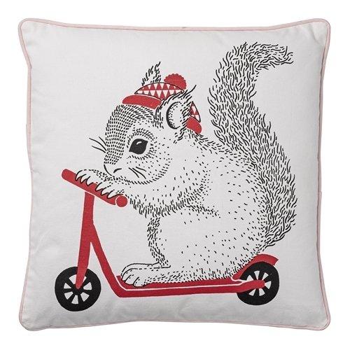 Kissen Eichhörnchen mit Bike