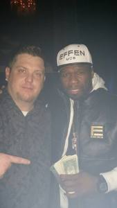 Ritz DJ Jerry Butler with 50 Cent