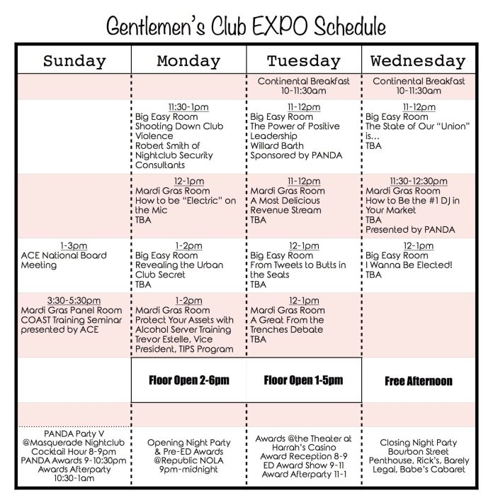 Full Expo Schedule
