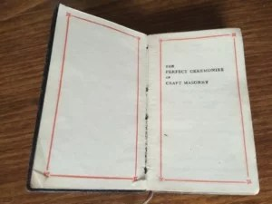 Masonic book of ceremonies