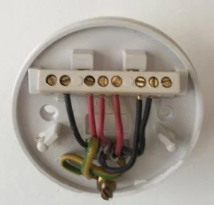 original ceiling rose wiring for reference