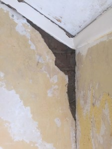 big crack in the wall