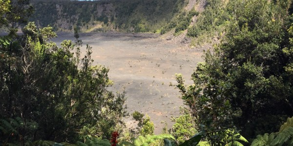 Volcanic crater, part-way down