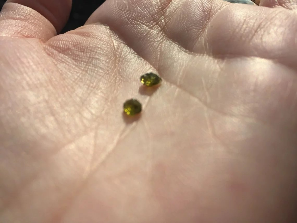 olivine crystals