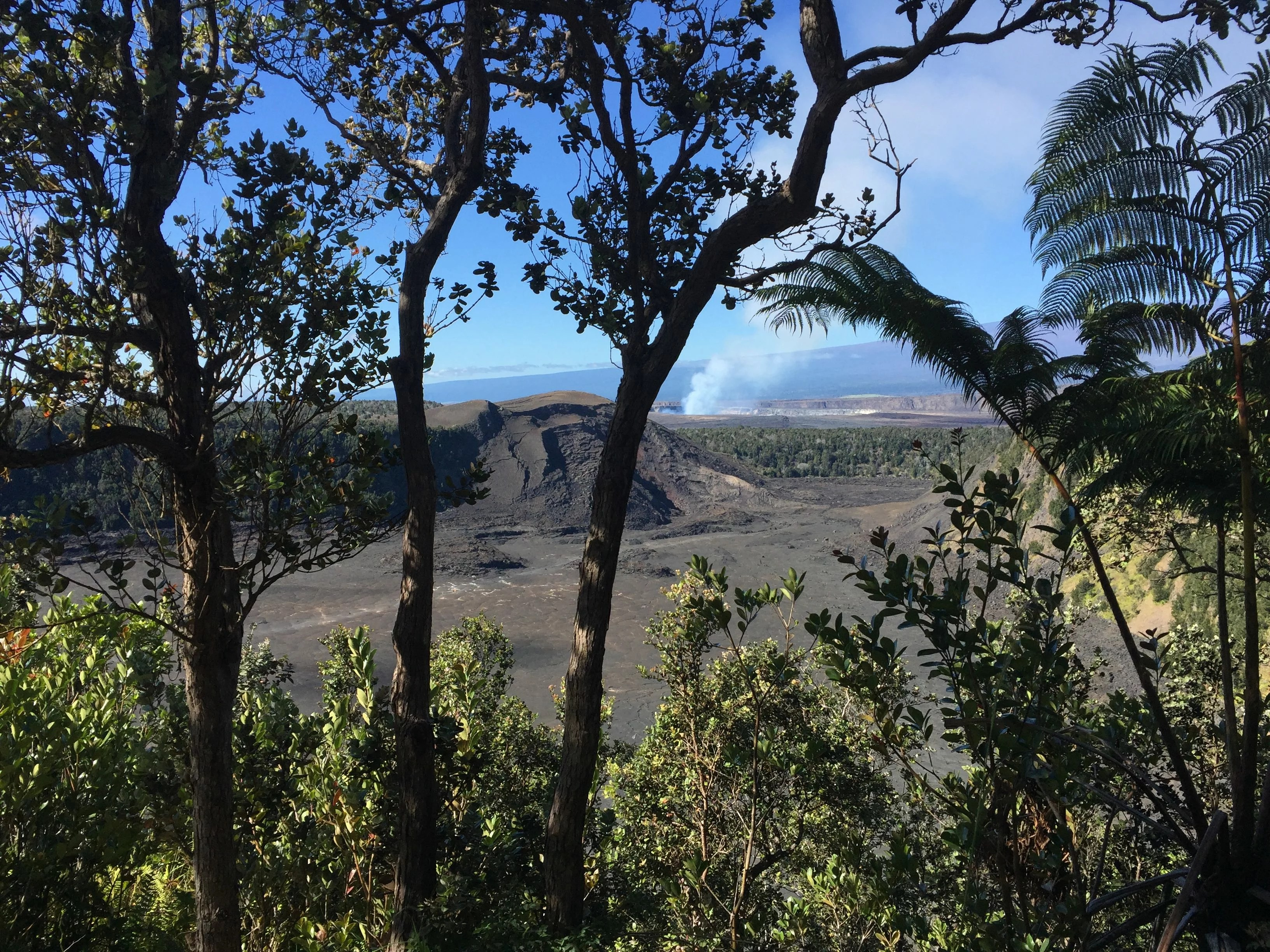 across the crater to the caldera