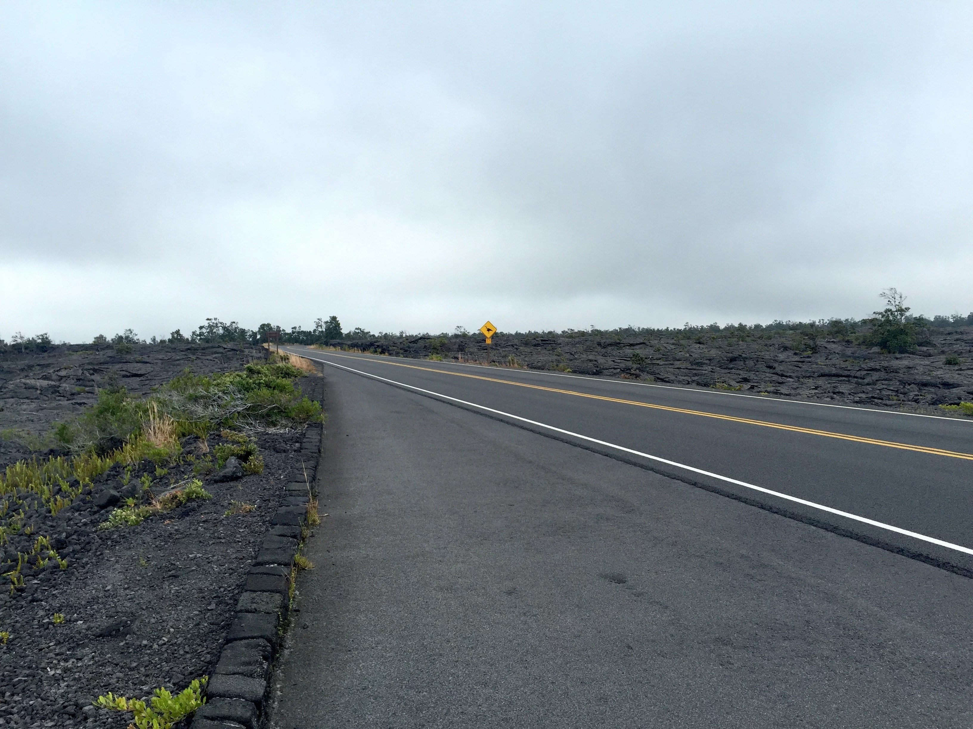 road with volcanic landscape