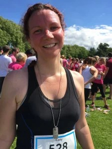 me before the Cambridge 10k Race for Life