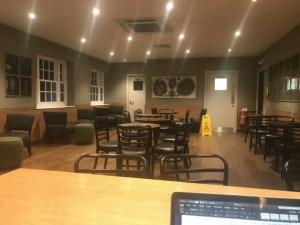 One of the locations I wrote my NaNoWriMo story: a coffee shop at a regional write-in