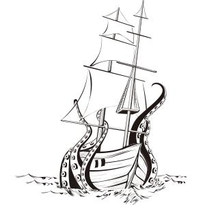 Kraken - Ilustración en vectores