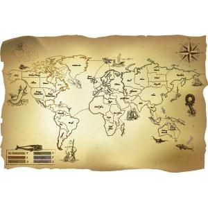 Tablero de Risk con estilo de mapa antiguo
