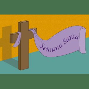 Banner para Semana Santa - Ilustración en vectores