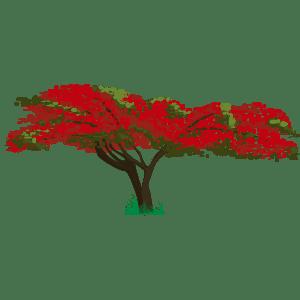 Árbol de fuego - Ilustración en vectores