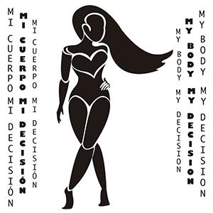 Mi cuerpo, mi decisión - Ilustración en vectores