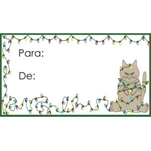 Tarjeta para regalo de navidad