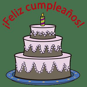 Pastel de cumpleaños - Ilustración en vectores
