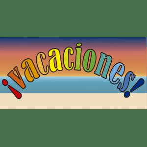 Vacaciones. Banner con fondo de playa - Ilustración en vectores