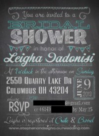 Leigha's Bridal Shower Invite