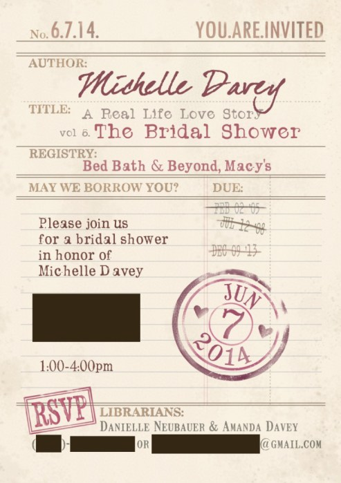 Miche's Bridal Shower Invite