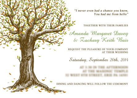 Amanda's Wedding Invite