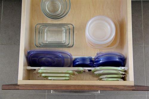 ranger les boites en plastiques