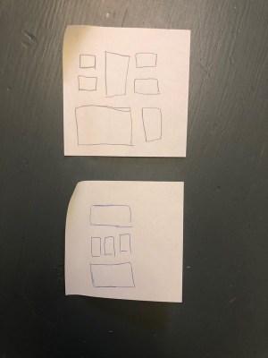schéma pour créer un mur de cadres